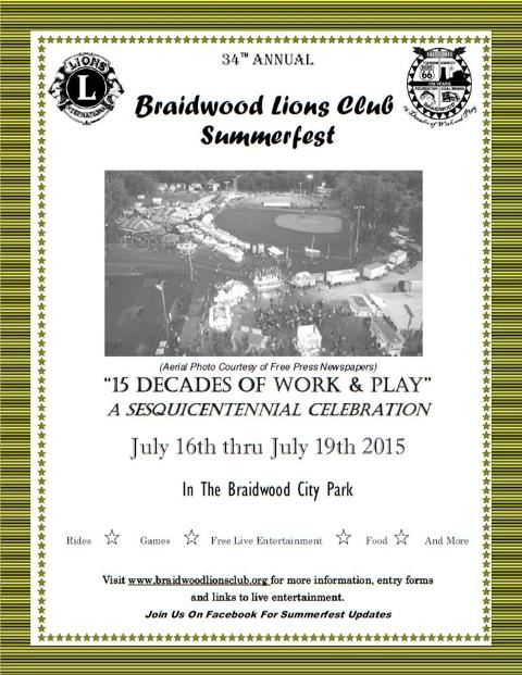 34th Annual Braidwood Lions Club Summerfest